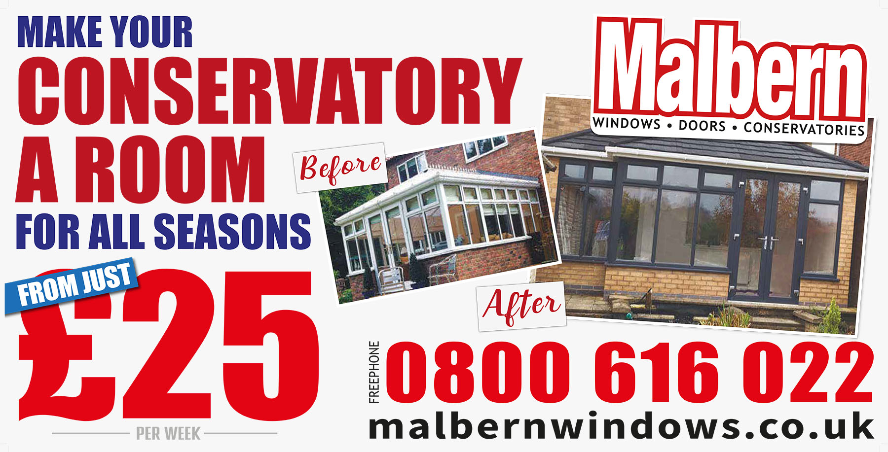 Malbern Windows Conservatory Offers